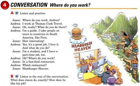 Exercício do livro Interchange ilustrador por Randy Jones